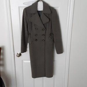 Warm wool/cashmere long peacoat